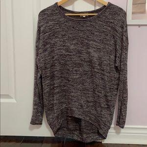 Wilfred free heather dark purple top sz xs
